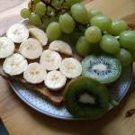 Boterham met pindakaas en banaan